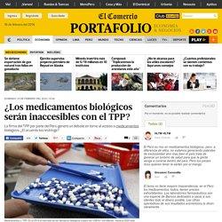 *El Comercio - 15/2/16 explicación sobre medicamentos biológicos, patentes y pruebas