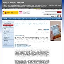 Agencia Española de Medicamentos y Productos Sanitarios - La AEMPS informa - Alertas - Medicamentos Uso Humanos - Alerta de medicamentos ilegales - Nº 05/10 - MMS (Miracle Mineral Solution)