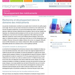 Mise au point de médicaments - Interpharma