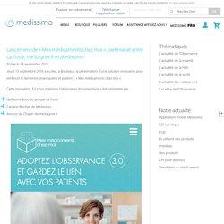 Lancement Mes médicaments chez moi partenariat La Poste et Medissimo