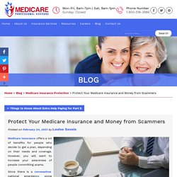 Protect Your Medicare Insurance and Money from Scammers