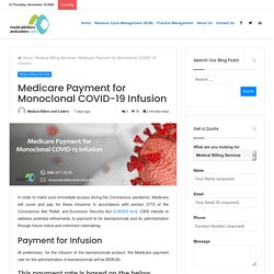 Medicare Payment for Monoclonal COVID-19 Infusion