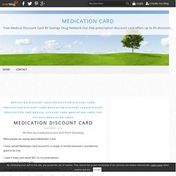 Medication Discount Card - Medication Card