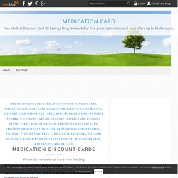 Medication Discount Cards - Medication Card