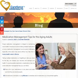 Medication Management Tips for the Aging Adults
