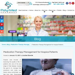 Medication Therapy Management for Hospice Patients