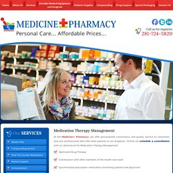 Medication Therapy Management Services