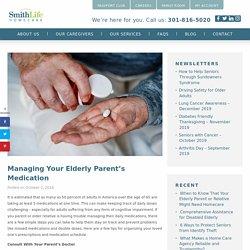 Manage Your Elderly Parent's Medication