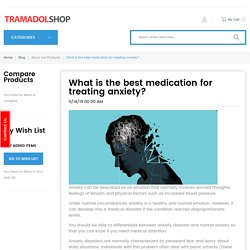 What is the best medication for treating anxiety?