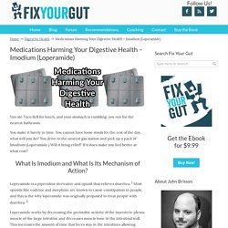 Medications Harming Your Digestive Health – Imodium (Loperamide)
