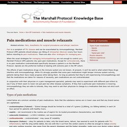Pain medications and muscle relaxants (MPKB)