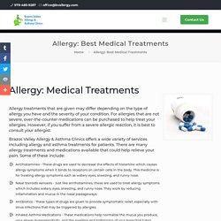 Top Medications to Treat Allergies