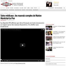 Soins médicaux: les mauvais comptes de Marion Maréchal-Le Pen