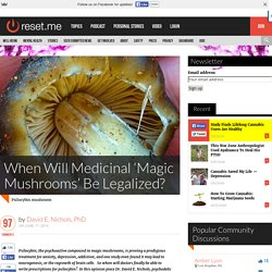 When Will Medicinal 'Magic Mushrooms' Be Legalized?