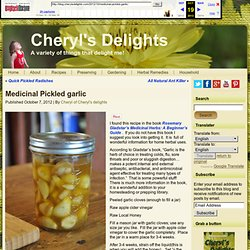 Medicinal Pickled garlic