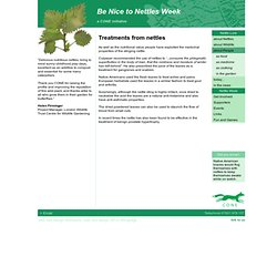 Medicinal uses of Nettles