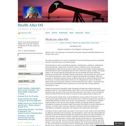 Medicine after Oil « Health After Oil