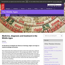 Medicine, diagnosis and treatment in the Middle Ages