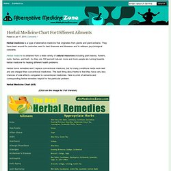 Herbal Medicine - Herbal Remedies Chart For Different Ailments