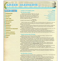 Greek Medicine: FASTING AND PURIFICATION