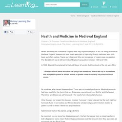 Health and Medicine in Medieval England