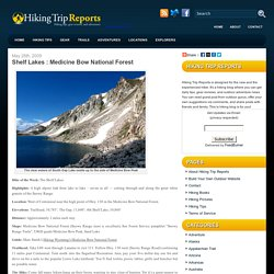 Shelf Lakes Hiking of Medicine Bow National Forest