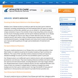 Sports Medicine Physicians in Ottawa - Athlete?s Care