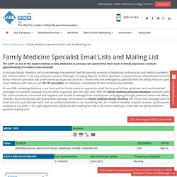 Family Medicine Specialist Email List