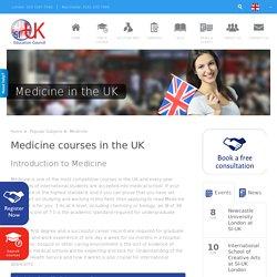 Medicine study in the UK