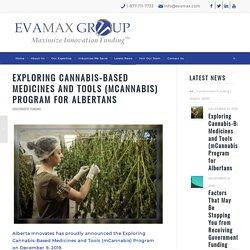 Cannabis-Based Medicines and Tools - mCannabis Program for Albertans