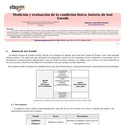 Medición y evaluación de la condición física: batería de test Eurofit