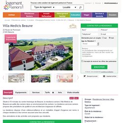 Villa Medicis Beaune Résidence senior à Beaune (21)