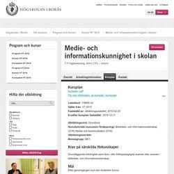 Medie- och informationskunnighet i skolan