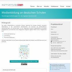 Medienbildung an deutschen Schulen