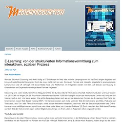 E-Learning: von der strukturierten Informationsvermittlung zum interaktiven, sozialen Prozess