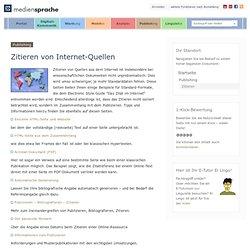 publishing: Zitieren - von Internet-Quellen