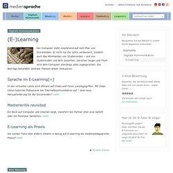 websprache: (E-)Learning