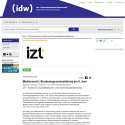 Mediensucht: Bundestagsveranstaltung am 9. Juni
