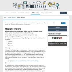 Medier i endring - Medielabben