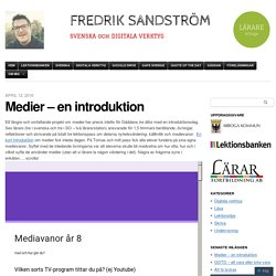 Medier – en introduktion