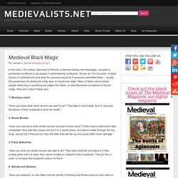 Medieval Black Magic