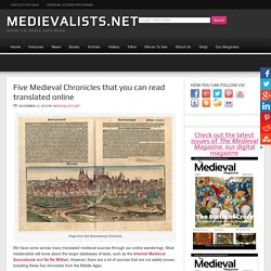 Five Medieval Chronicles that you can read translated online