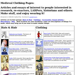 Medieval Clothing Pages: Articles by Cynthia Virtue