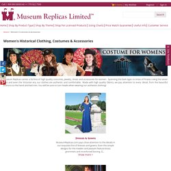 Women's Medieval & Renaissance Costumes - MuseumReplicas.com