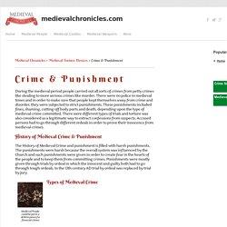 Medieval Crime & Punishment