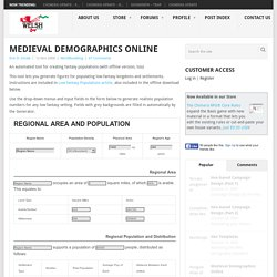 The Welsh Piper » Medieval Demographics Online