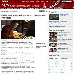 Medieval Latin dictionary completed after 100 years