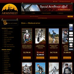 Medieval armor | Knight armour and Fantasy armor for sale :: ArmStreet