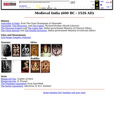 Medieval India (600 BC - 1526 AD)