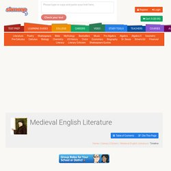 Medieval English Literature Timeline